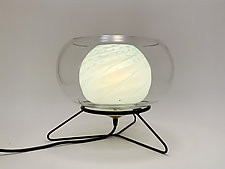 Mint Light Bowl by Dierk Van Keppel (Art Glass Table Lamp)