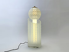 Opal Radiant Light by Dierk Van Keppel (Art Glass Table Lamp)