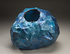 Blue Grotto by Jackie Abrams (Mixed-Media Vessel)