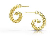 Ruffle Swirl Hoop Earrings by Thea Izzi (Gold & Silver Earrings)
