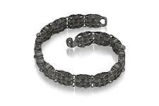 Small Checks Link Bracelet by Thea Izzi (Silver Bracelet)