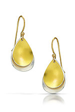 Layered Teardrop Earrings by Thea Izzi (Gold & Silver Earrings)