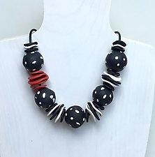 Polka Dot Necklace by Klara Borbas (Polymer Clay Necklace)