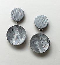 Gray Swirl Earrings by Klara Borbas (Polymer Clay Earrings)