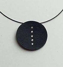Swarovski Line Pendant by Klara Borbas (Polymer Clay Necklace)