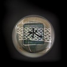 Water Paperweight by Richard S. Jones (Art Glass Paperweight)