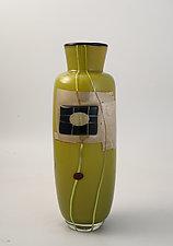 Green Tile Vase by Richard S. Jones (Art Glass Vase)