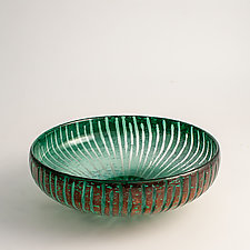 Lotus Leaf Bowl by Richard S. Jones (Art Glass Bowl)