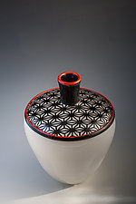 Pattern Top Vase by Richard S. Jones (Art Glass Vase)