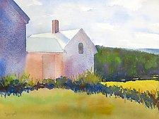 Barns V by Suzanne Siegel (Watercolor Painting)