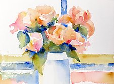 Pink Roses by Suzanne Siegel (Watercolor Painting)