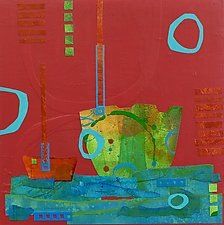 Harbor XI by Suzanne Siegel (Mixed-Media Painting)