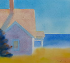 Looking to Sea II by Suzanne Siegel (Watercolor Painting)