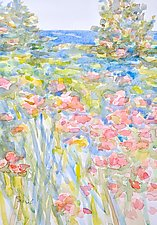 Flowers by the Sea by Suzanne Siegel (Watercolor Painting)
