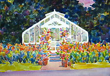 Greenhouse I by Suzanne Siegel (Watercolor Painting)