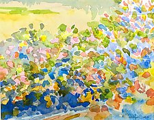 Garden and Field I by Suzanne Siegel (Watercolor Painting)