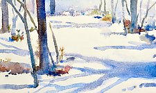 Winter Shadows by Suzanne Siegel (Watercolor Painting)