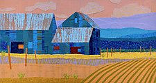 Blue Barns, Spring by Suzanne Siegel (Giclee Print)