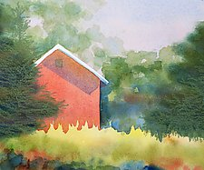 Early Morning Barn by Suzanne Siegel (Watercolor Painting)