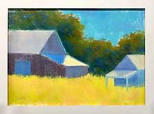 Summer Barns by Suzanne Siegel (Pastel Painting)