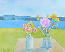 One Hundred Views of Isle au Haut 7 by Suzanne Siegel (Watercolor Painting)