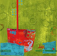 Harbor XII by Suzanne Siegel (Mixed-Media Painting)