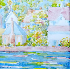 Village IV by Suzanne Siegel (Watercolor Painting)