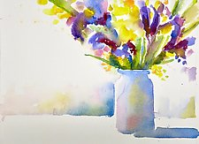 Spring Blooms by Suzanne Siegel (Watercolor Painting)