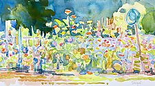 Community Garden by Suzanne Siegel (Watercolor Painting)