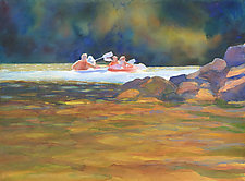 Past the Bridge by Suzanne Siegel (Watercolor Painting)