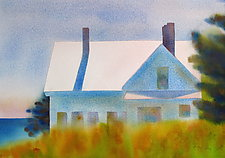 Backlight II, Monhegan by Suzanne Siegel (Watercolor Painting)