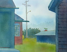 Fog, Rockland by Suzanne Siegel (Watercolor Painting)