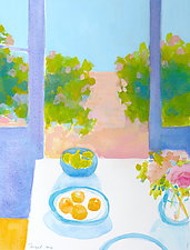 After Breakfast I by Suzanne Siegel (Watercolor Painting)