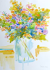 Bouquet III by Suzanne Siegel (Watercolor Painting)