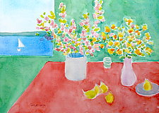 Breakfast With Matisse II by Suzanne Siegel (Watercolor Painting)