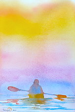 Morning Paddler III by Suzanne Siegel (Watercolor Painting)