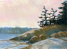 Acadia Spring II by Suzanne Siegel (Pastel Painting)