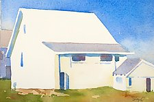 Amish Barns II by Suzanne Siegel (Watercolor Painting)