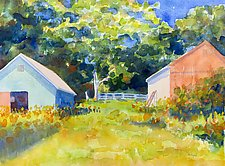 Rosie and Fred's Farm by Suzanne Siegel (Watercolor Painting)