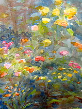 Garden in the Woods by Suzanne Siegel (Watercolor Painting)