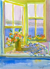 Summer Window by Suzanne Siegel (Watercolor Painting)