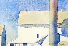 Amish Barns I by Suzanne Siegel (Watercolor Painting)