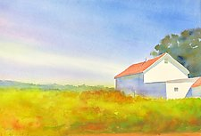New England Barns by Suzanne Siegel (Watercolor Painting)