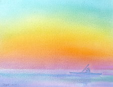 Solo Paddle III by Suzanne Siegel (Watercolor Painting)