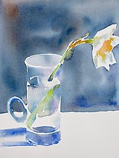 Narcissus by Suzanne Siegel (Watercolor Painting)