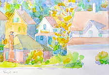 Village V by Suzanne Siegel (Watercolor Painting)