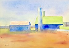 Amish Barns III by Suzanne Siegel (Watercolor Painting)