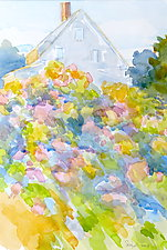 Uphill Garden IV by Suzanne Siegel (Watercolor Painting)