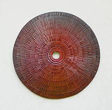 Burmese Wheel by Ronald Artman (Ceramic Wall Sculpture)