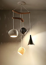 ClayLight Boomerang Miro by Sharan Elran, Yael Erel, and Avner Ben Natan (Ceramic Chandelier)